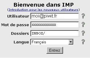 Dans la case Utilisateur inscrire votre adresse E-mail complète.